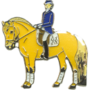 "Lapel Pin ""Norwegian with Rider"""