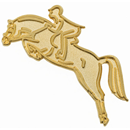 "Lapel Pin ""Show Jumper"", Gold"