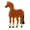 "Lapel Pin ""Standing Brown Horse"""