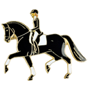 "Lapel Pin ""Dressage"", Black"