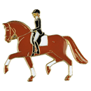 "Lapel Pin ""Dressage"", Brown"