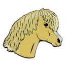 "Lapel Pin ""Pony Head"", palomino"