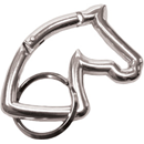 "Aluminium Snap Hook ""Horse Head"", silver"
