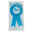 "Ribbon Brooch ""Happy Birthday"", blue"