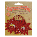 "Felt Christmas Ornaments ""Horses"", Set of 5"