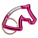 "Aluminium Snap Hook ""Horse Head"", pink"