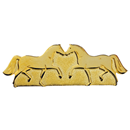 "Brooch ""2 Horses"", Gold"