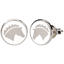 "Ear Studs ""Horse Head"", white"