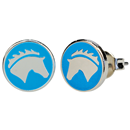 "Ear Studs ""Horse Head"", blue"