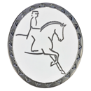 "RUBIN ROSS Brooch ""Dressage Rider"", black"