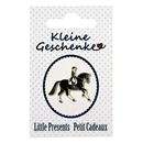 "Lapel Pin ""Dressage Rider"", black"