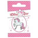 "Lapel Pin ""White Star"""