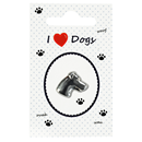 "Lapel Pin ""I love Dogs"""