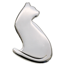 "Lapel Pin ""Cat"", Silver"