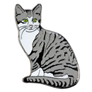 "Lapel Pin ""Domestic Cat"""