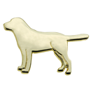 "Lapel Pin ""Dog"", Gold"