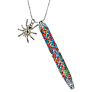 "Glitter Pen with Charm ""Spider"", multicoloured"