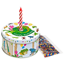 "Gift Box ""Reptiles"" with Candle and Confetti"