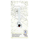 "Magnetic Bookmark ""Spider"", Pack of 3"