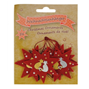 "Felt Christmas Ornaments ""Cats"", Set of 5"