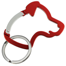 "Aluminium Snap Hook ""Dog Head"", red"