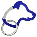 "Aluminium Snap Hook ""Dog Head"", blue"