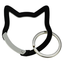 "Aluminium Snap Hook ""Cat Head"", black"