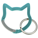 "Aluminium Snap Hook ""Cat Head"", turquoise"