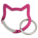 "Aluminium Snap Hook ""Cat Head"", pink"