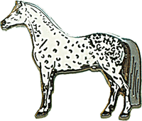 "Lapel Pin ""Dapple Grey Horse"""