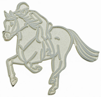"Lapel Pin ""Endurance Competition"", Silver"