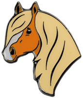 "Lapel Pin ""Haflinger Head"""