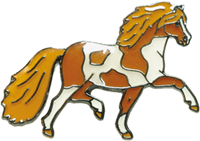 "Lapel Pin ""Spotted Pony"", Brown"