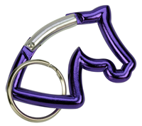 "Aluminium Snap Hook ""Horse Head"", purple"