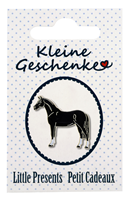 "Lapel Pin ""Horse"", black"