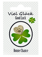 "Heart Lapel Pin ""Good Luck"""