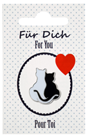 "Cat Lapel Pin ""For You"""