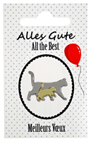 "Cat Lapel Pin ""All the Best"""
