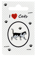 "Lapel Pin ""I love Cats"""