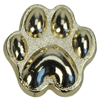 "Lapel Pin ""Paw"", gold"