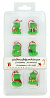 "Christmas Ornaments ""Geckos"", Set of 6"