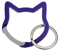"Aluminium Snap Hook ""Cat Head"", purple"